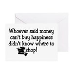 Money Happiness Greeting Card