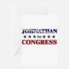 JOHNATHAN for congress Greeting Card