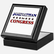 JOHNATHAN for congress Keepsake Box