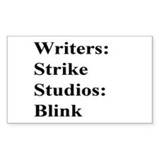 Writers Strike Rectangle Decal