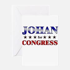 JOHAN for congress Greeting Card