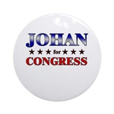 JOHAN for congress Ornament (Round)