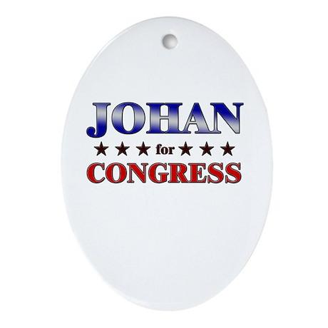 JOHAN for congress Oval Ornament