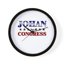 JOHAN for congress Wall Clock