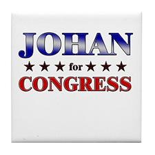JOHAN for congress Tile Coaster