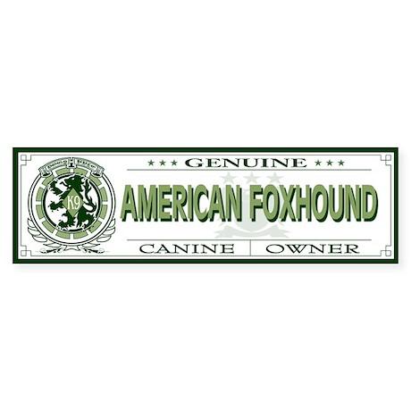 AMERICAN FOXHOUND Bumper Sticker