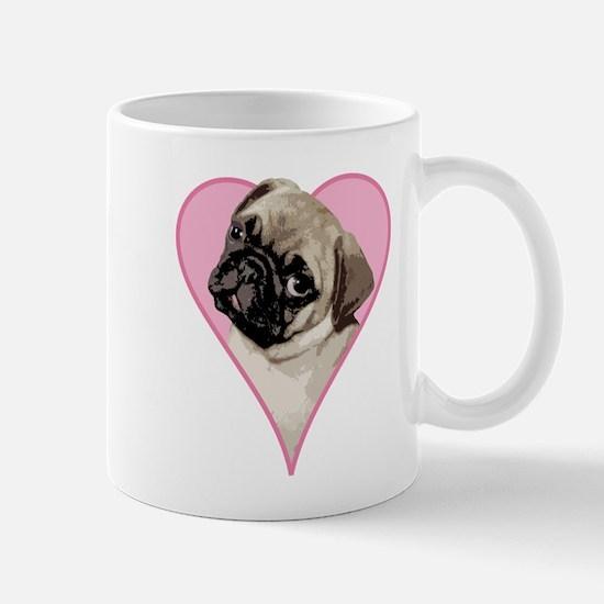 Heart Pug - Mug