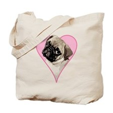 Heart Pug - Tote Bag
