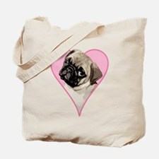 Heart Pug - Tote Bag
