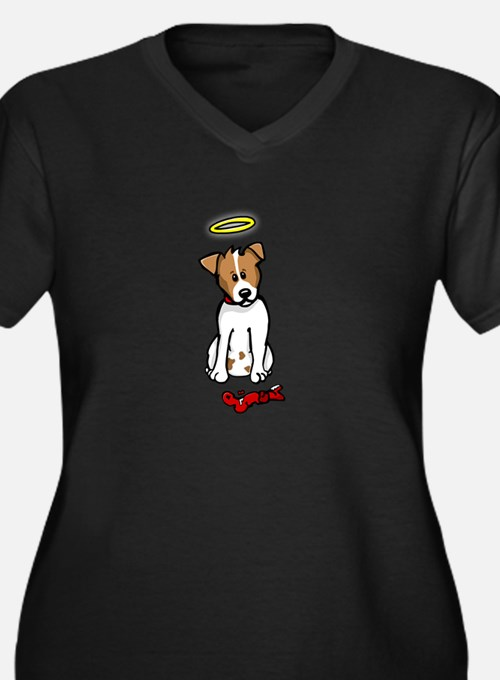 Jack Russell - Angel - Women's Plus Size V-Neck Da