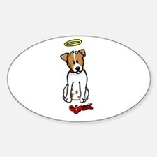 Jack Russell - Angel - Oval Decal