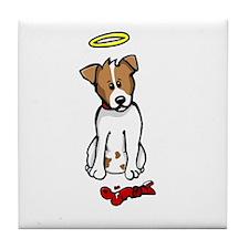 Jack Russell - Angel - Tile Coaster