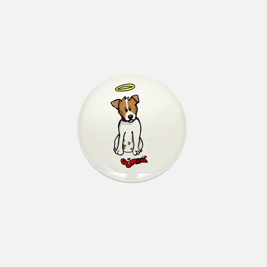 Jack Russell - Angel - Mini Button