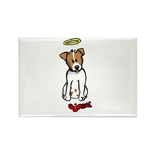 Jack Russell - Angel - Rectangle Magnet