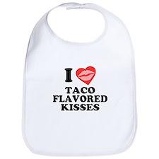 Taco Flavored Kisses Bib