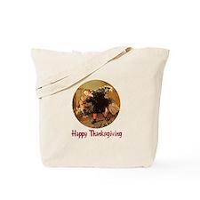 Boy and Thanksgiving Turkey Tote Bag