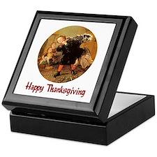 Boy and Thanksgiving Turkey Keepsake Box
