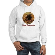 Boy and Thanksgiving Turkey Hoodie
