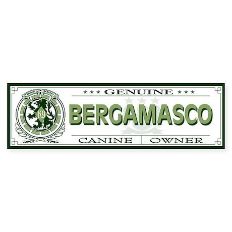 BERGAMASCO Bumper Sticker