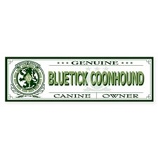 BLUETICK COONHOUND Bumper Bumper Sticker