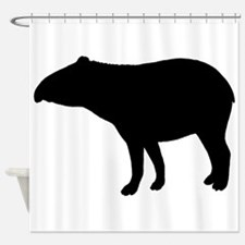 Tapir Silhouette Shower Curtain