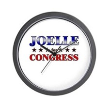 JOELLE for congress Wall Clock