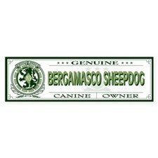 BERGAMASCO SHEEPDOG Bumper Bumper Sticker