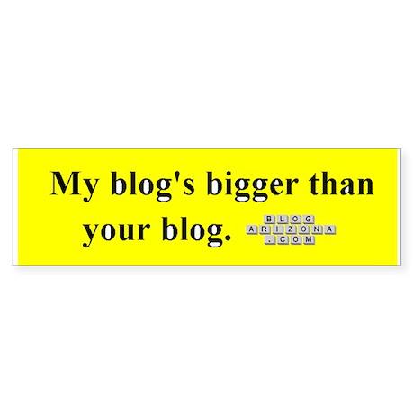 Big Blog Bumper Sticker