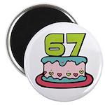 67th Birthday Cake Magnet
