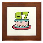 67th Birthday Cake Framed Tile