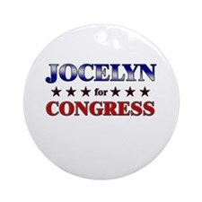 JOCELYN for congress Ornament (Round)