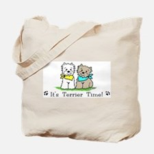 Funny Westie and cairn Tote Bag