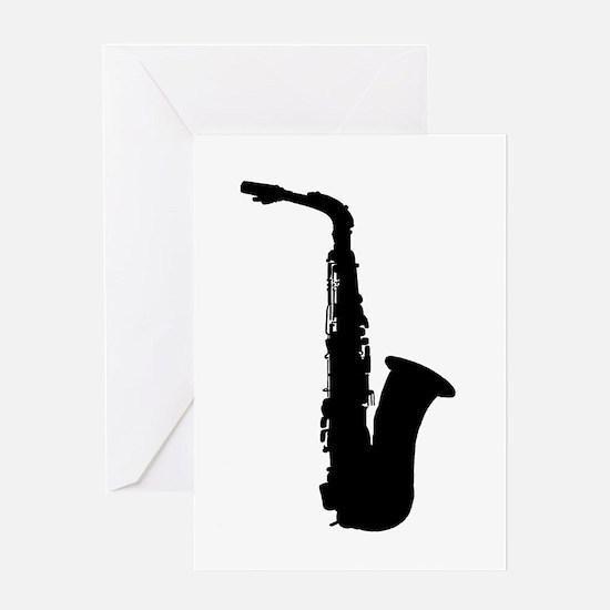 Saxophone Greeting Cards