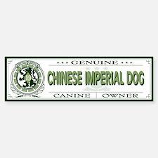 CHINESE IMPERIAL DOG Bumper Bumper Bumper Sticker
