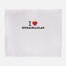 I Love INTRACELLULAR Throw Blanket