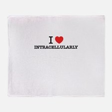 I Love INTRACELLULARLY Throw Blanket