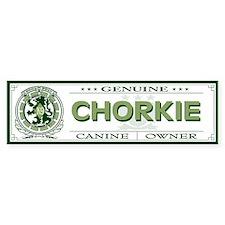 CHORKIE Bumper Car Sticker