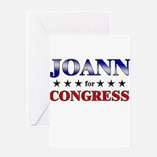 JOANN for congress Greeting Card