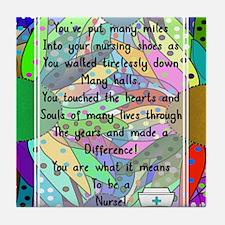 Retired Nurse Poem Tile Coaster