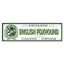 ENGLISH FOXHOUND Bumper Bumper Sticker