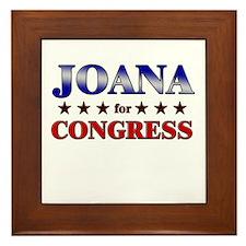 JOANA for congress Framed Tile