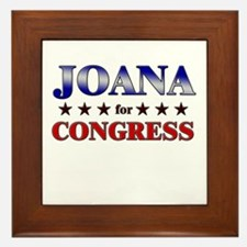 JOANA for congress Framed Tile