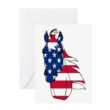 Old Glory Horse Greeting Card