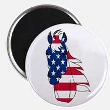 """Old Glory Horse 2.25"""" Magnet (100 pack)"""
