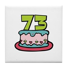 73 Birthday Cake Tile Coaster