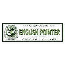 ENGLISH POINTER Bumper Bumper Sticker
