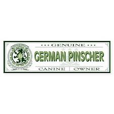 GERMAN PINSCHER Bumper Bumper Sticker