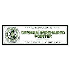 GERMAN WIREHAIRED POINTER Bumper Bumper Sticker