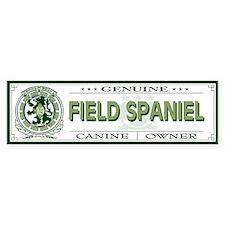FIELD SPANIEL Bumper Bumper Bumper Sticker