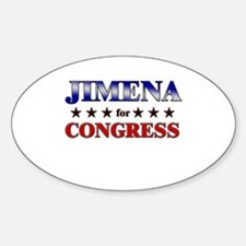 JIMENA for congress Oval Decal